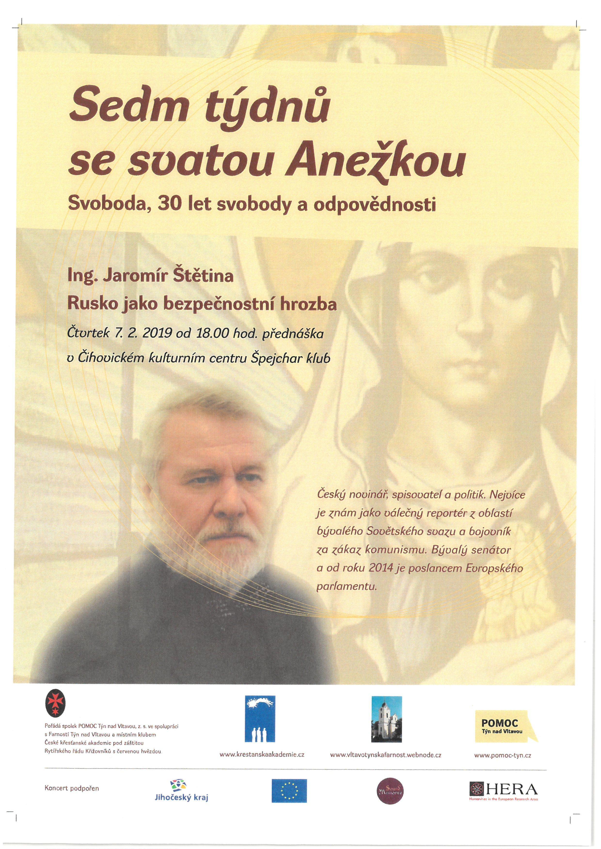 Sedm týdnů se svatou Anežkou - Ing. Jaromír Štětina