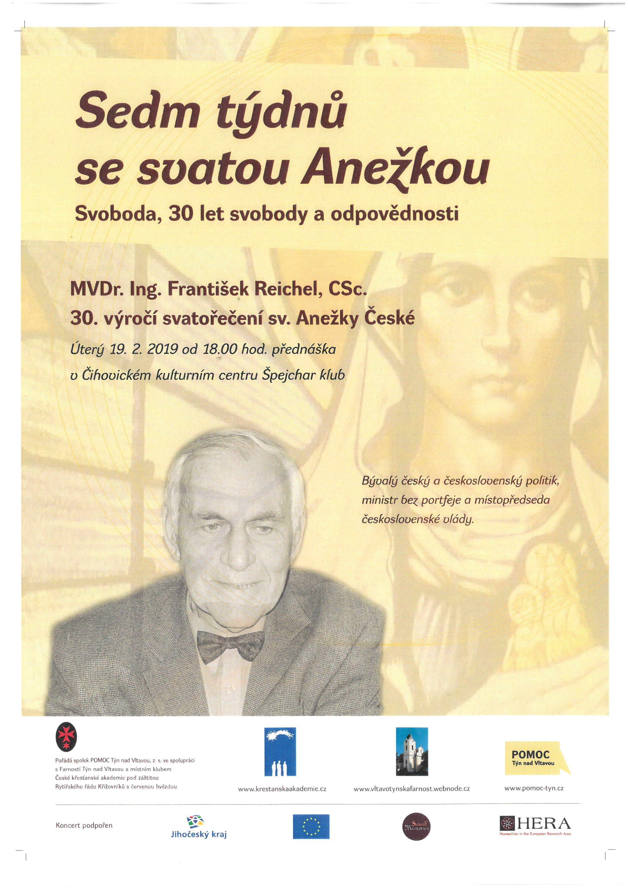 Sedm týdnů se svatou Anežkou - MVDr.Ing. František Reichel, CSc.