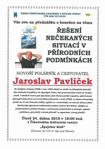 Přednáška pana Jaroslava Pavlíčka
